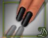 [D] Basic Black Nails