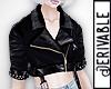 ! Crop Leather Jacket