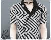 Abstract Stripes Shirt