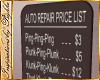 I~Auto Repair Price List