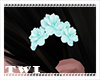 Kawaii Hair Flower Aqua