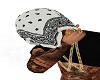 WHITE BANDANA HEAD TOWEL
