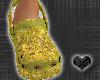 *CROCS Gold Shoes