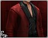 Red Sleek Suit Top