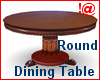 !@ Round dining table