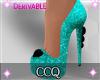 [CCQ]Glitter-Teal Heels