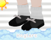 H! Black Snowman Shoes