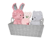 Shabby Teddy Bear Basket