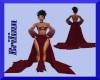 [B] Maroon Goddess Gown