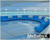[X]Large Blue Sofa
