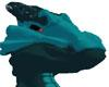 Bluish Green Dragon Head