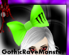 !Monster green bow