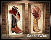 His Hers Boots Hats Art