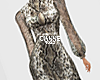 Snake midi bow dress