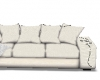 white sofa with lights
