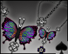 Cat~ Butterfly Necklace