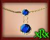 Double Saphire Necklace