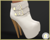 £. White Buckle Boots
