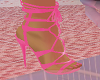 Pink Ankle Ribbon Shoes