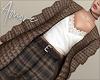$ Wool Cardigan+Lace Top