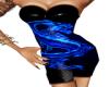 Blue Dragon PVC Dress