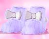 purple booties 6 Ɛ>
