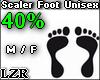 Scaler Foot Unisex 40%