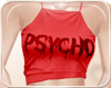 !NC Cropped PSYCHO RED