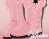Pink Fur Boots