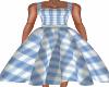50s Blue Gingham Dress