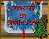 Santa Lap Sign