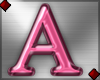 Pink Letter A