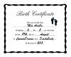 Mia - Birth Certificate