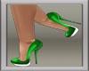 Xmas Green Glitter Pumps