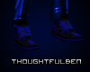 Leather Dark Blue Shoes