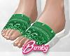Bandana Slides Green