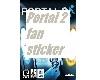 Portal 2 fan sticker