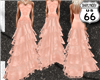 SD Peach Ruffle Lace