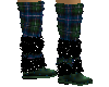 Plaid Blue Boots