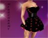black/red star dress