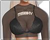♡ MISBHV Mesh Top Blk