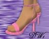 Pink Tie-Back Spike Heel