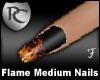Flame Med Length Nails