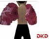 Red Fractal Angel Wings