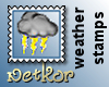 Weather Stamp Thunder