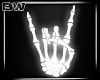 Skull Hand Neon Sign