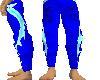 dragon blue asian pants