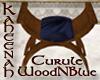 K-CURULE CHAIR WoodNBlue