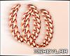 $ Chain Earrings   rosa