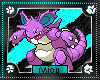 +M+ Nidoking Animated